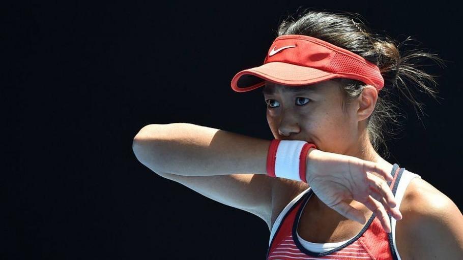 Eliminada, Zhang fez uma campanha surpreendente no Aberto da Austrália - Saeed Khan/AFP