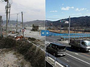 Veja imagens de Fukushima destruída e da reconstrução recente