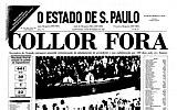 Os grandes acontecimentos da história na capa do Estadão