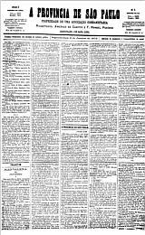 Capa da primeira edição do jornal