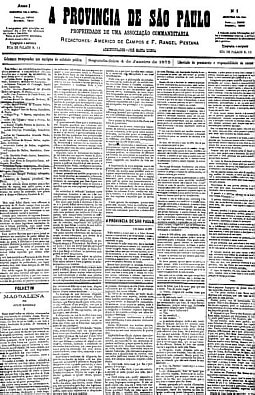 Primeira edição da Província - 04/01/1985