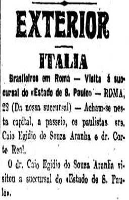 O Estado abre uma sucursal em Roma.