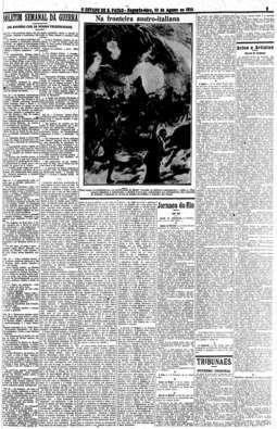 Boletim Semanal da Guerra, escrito por Julio Mesquita, tornou-se leitura obrigatória na cidade, 23/8/1915