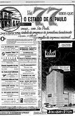 Projeto da nova sede, 3/4/1952