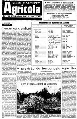 Suplemento Agrícola, n.º 1