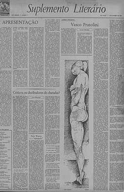 Suplemento Literário, n.º 1, 6/10/1956