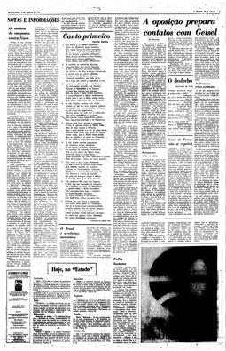 Versos de Camões no lugar das matérias censuradas, 2/8/1973