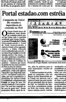 Lançamento do Portal Estadão