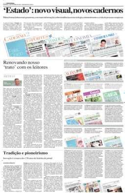 Reformulação gráfica e novos cadernos, 17/10/2004