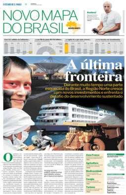 Circula o primeiro caderno especial 'Novo mapa do Brasil'