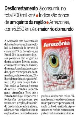 """Lançamento da revista """"Amazônia – Ainda É Possível Salvar?"""""""