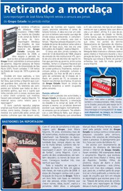 Estado lança o livro-reportagem Mordaça no Estadão