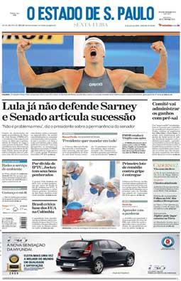 Estado publica a 1.ª reportagem sobre filho de Sarney (Boi Barrica), 31/7/2009