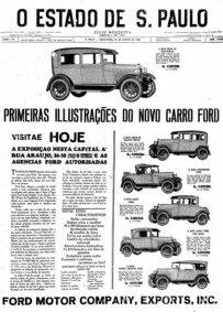 Os novos Fords para 1928