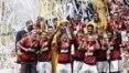 Em grande jogo, Flamengo bate Palmeiras nos pênaltis e é bicampeão da Supercopa do Brasil