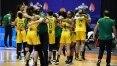 Seleção feminina sofre, mas bate Canadá e leva bronze na Copa América de basquete