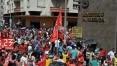 Manifestantes vão às ruas contra o ajuste