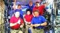 Trio deixa a Estação Espacial Internacional em nave russa