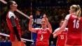 Seleção feminina busca reação, mas perde por 3 a 2 da Polônia na Liga das Nações