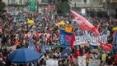 Manifestantes se reúnem contra Bolsonaro em 24 Estados e no DF
