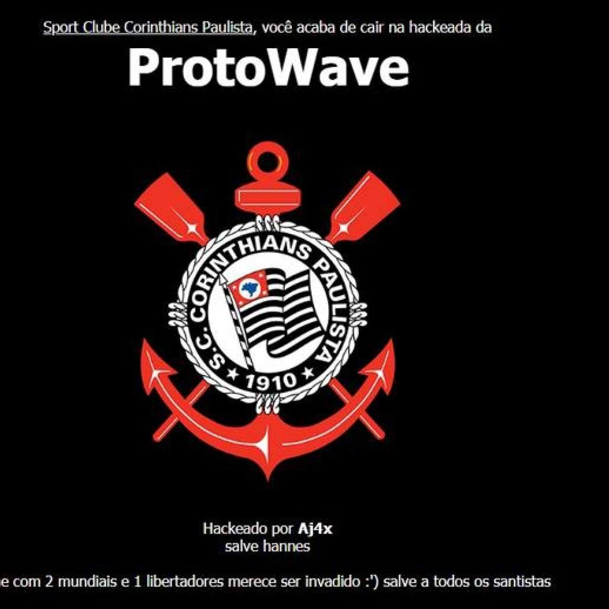 ab57d91218078 Site oficial do corinthians hackeado salve a todos os santistas futebol  fera jpg 1200x1200 Clube corinthians
