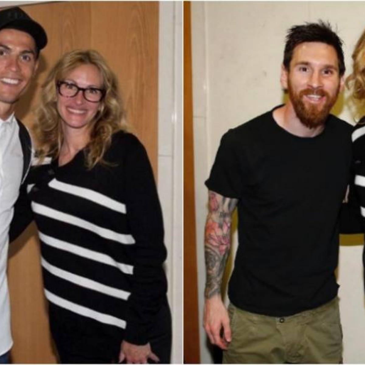 934e30ea53e15 Julia Roberts tieta Cristiano Ronaldo e Messi no Santiago Bernabéu -  Futebol - Fera