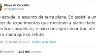 Olavo de Carvalho terraplanismo