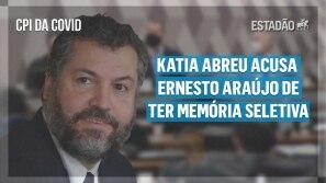 CPI da Covid: Katia Abreu acusa Ernesto Araújo...