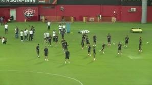 Seleção treina em Salvador