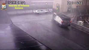 Câmeras de segurança registraram desabamento de...