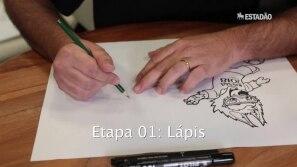 Que tal desenhar a mascote da Copa?