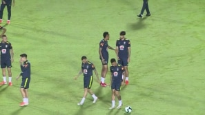 A seleção treina para jogo contra Venezuela