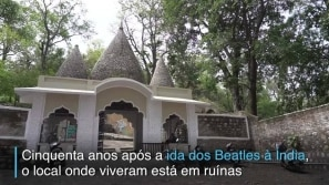 As ruínas dos Beatles na Índia
