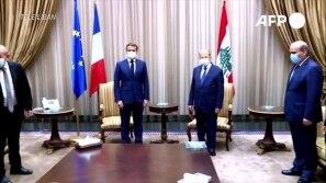 Líbano conta os mortos e recebe Macron