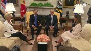 Trump e a base militar na Polônia