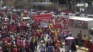 Apoiadores de Maduro nas ruas