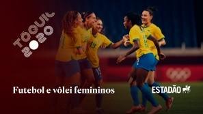 Futebol e vôlei femininos do Brasil vencem e...