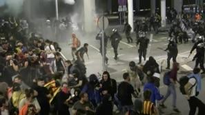 Confrontos intensos em Barcelona