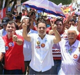 Em Alagoas, campanha de Renan Filho une presidente, Lula e Collor