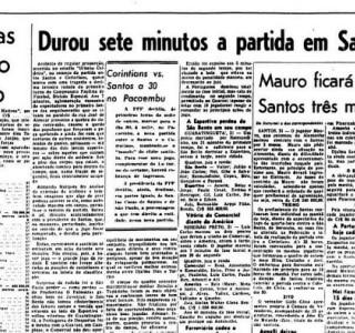 Há 50 anos, queda de alambrado na Vila deixava 181 feridos