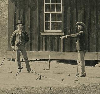 Detalhe da foto que mostra Billy the Kid e um capanga. Foto: REUTERS/www.kagins.com/Handout via Reuters