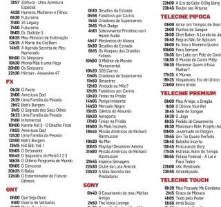 Veja a Programação da TV Fechada