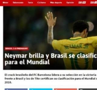 Imprensa internacional destaca Neymar e Tite após Brasil garantir ... 0c398f165a308