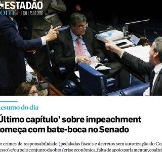 Impeachment é destaque no Estadão Noite