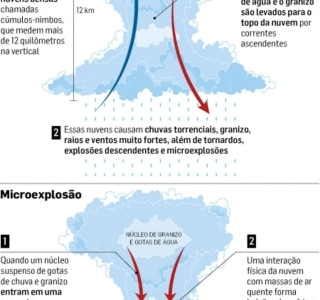 Para meteorologista, tempestade foi causada por 'microexplosão'