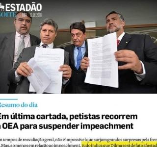'Última cartada contra impeachment' é destaque do Estadão Noite