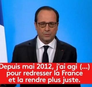 Le Pen diz que desistência de Hollande responde ao fracasso de seu governo