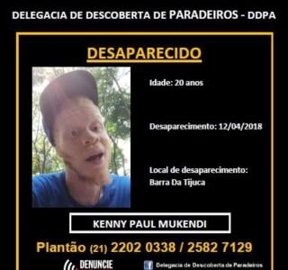 Rapper inglês Kenny Vulcan está desaparecido no Rio de Janeiro