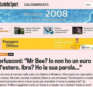 Reprodução/La Gazzetta dello Sport