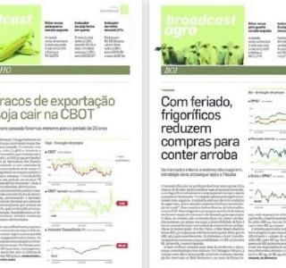 'AE' amplia cobertura do agronegócio e lança newsletter 'Broadcast Agro'